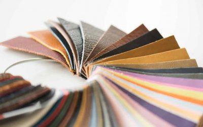 kleurstalen leder
