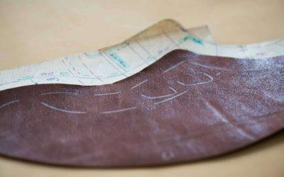grondpatroon van een orthopedische schoen